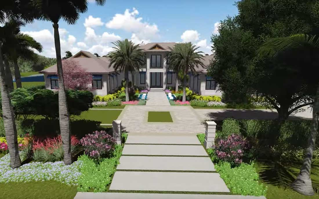3D Rendering of 3450 Rum Row in Naples Florida designed by Kukk Architecture and Design, P.A. | Blog: PRIVATE RESIDENCE: 3450 RUM ROW