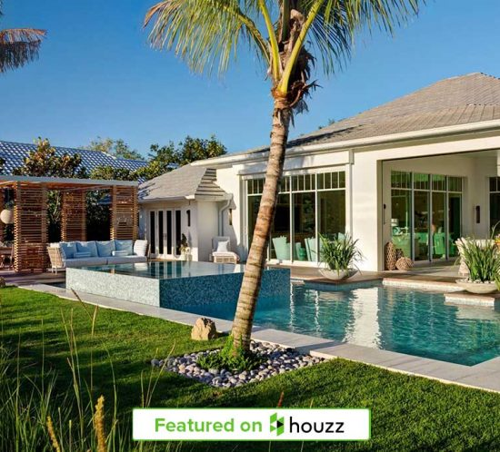 """Relaxing Naples, Florida home backyard featured on Houzz designed by Kukk Architecture and Design, P.A 