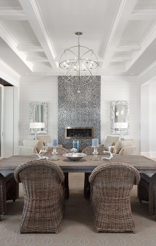 White, Modern, Wooden Ceiling Design Collection in Naples Florida homes. Designed by Kukk Architecture & Design Naples.
