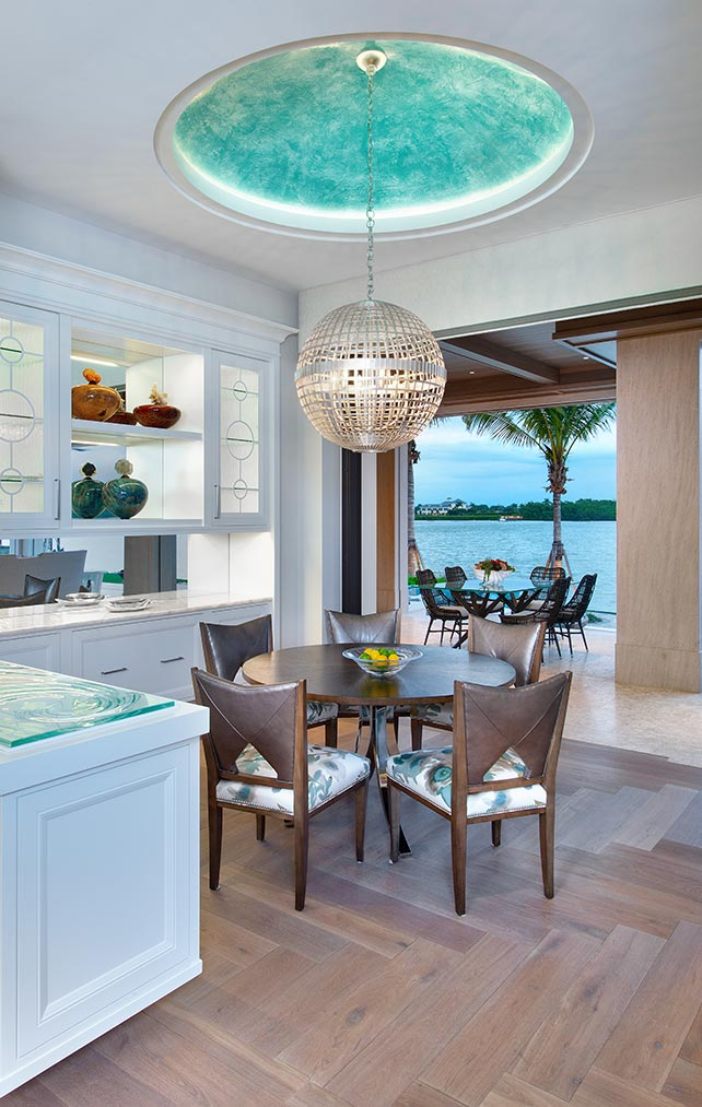 Built-in Ceiling Design Collection in Naples Florida homes. Designed by Kukk Architecture & Design Naples.