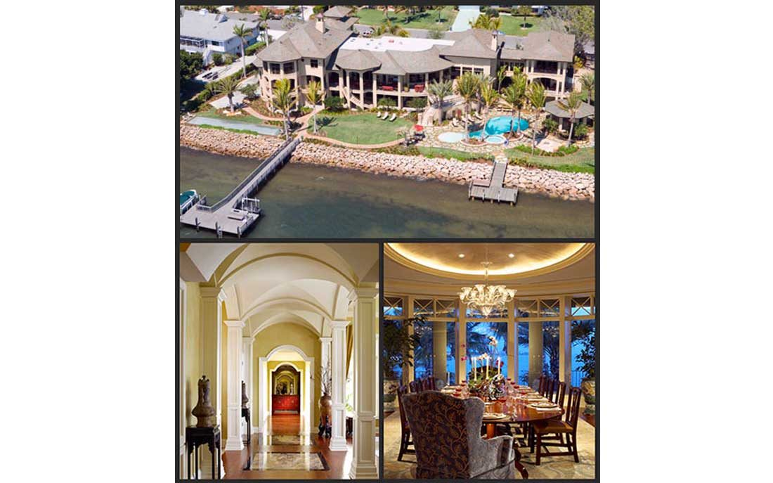 Collage of interior and exterior home images from Kukk Architecture and Design, P.A. | Blog: Residence by Kukk Architecture and BCB Homes Tops 2015 Home Sales in Sarasota