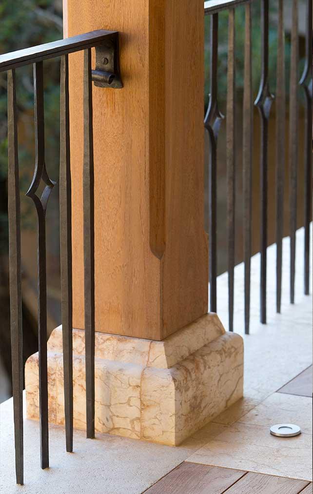 Balcony Texture Details Portfolio in a Naples Florida, single family home. Designed by Kukk Architecture & Design Naples.