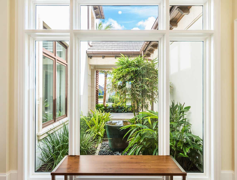 Modern Florida Home Courtyard Details Portfolio in a Naples Florida, single family home. Designed by Kukk Architecture & Design Naples.