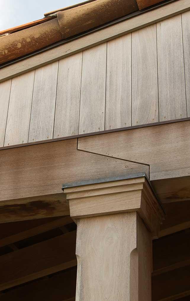 Exterior wood Design Details Portfolio. Naples Florida, single family home. Designed by Kukk Architecture & Design Naples.