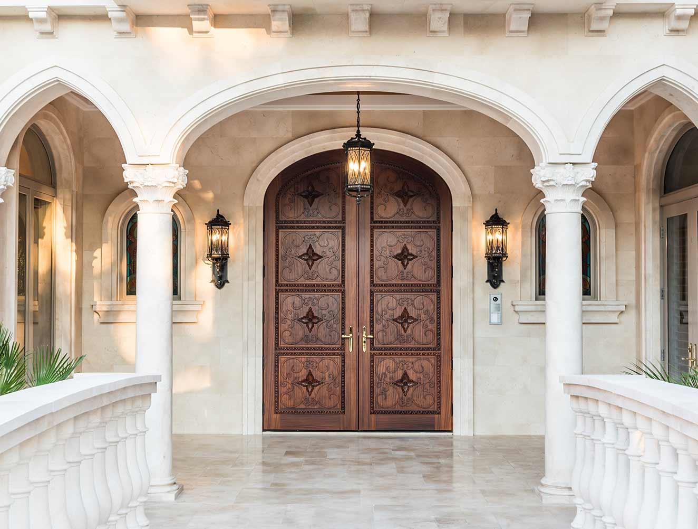 Moroccan Architectural Details Portfolio in a Naples Florida, single family home. Designed by Kukk Architecture & Design Naples.