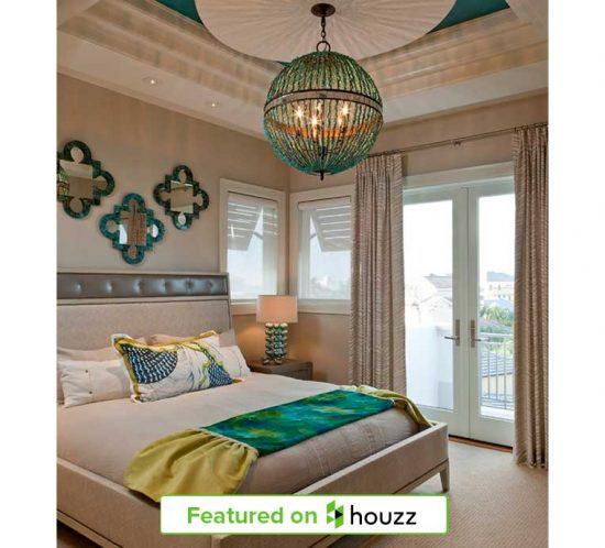 """Turquoise bedroom featured on Houzz from Kukk Architecture & Design, P.A. 104 Dominica Project 