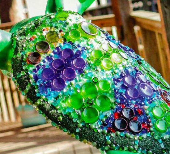 Embellished turtle sculpture from Kukk Architecture and Design, P.A. | Blog: Turtles on the Town