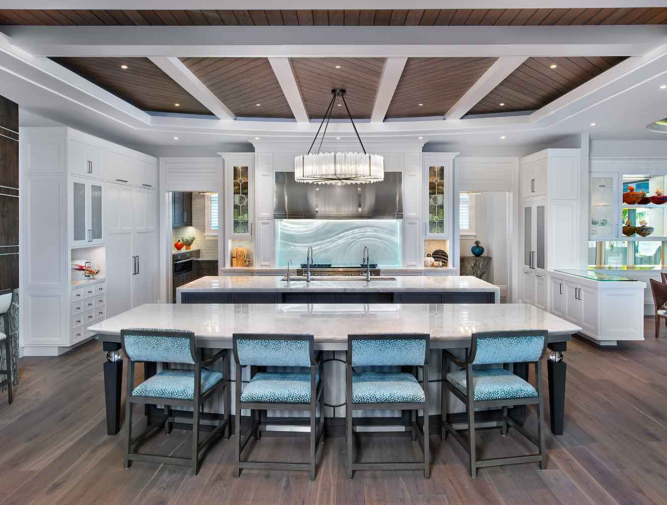 Kitchen of Galleon Estate in Naples Florida, single family home designed by Kukk Architecture & Design Naples Architecture Firm