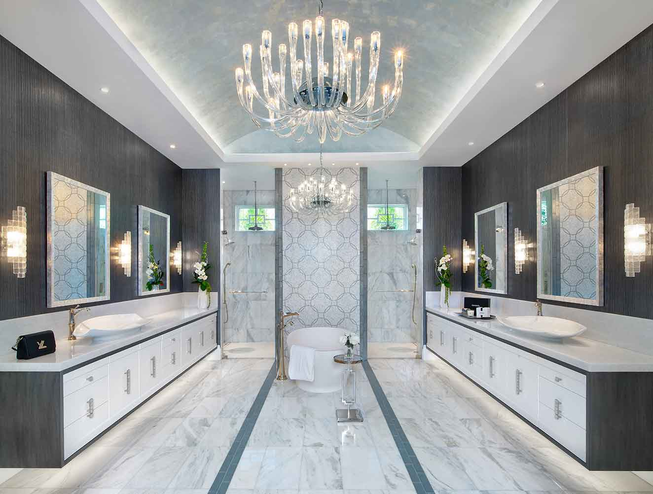 Master Bathroom of Galleon Estate in Naples Florida, single family home designed by Kukk Architecture & Design Naples Architecture Firm