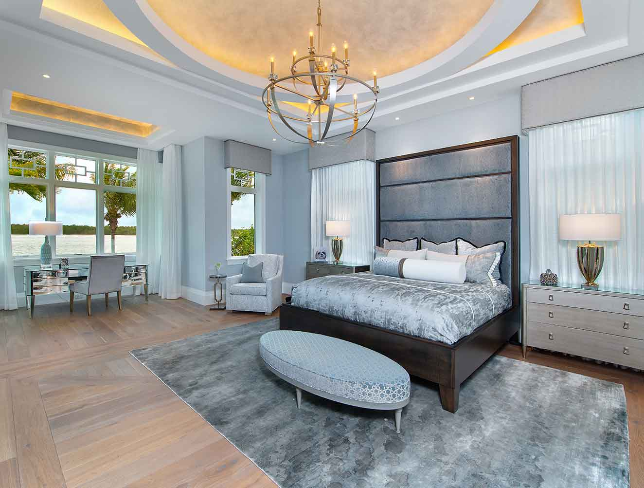 Master Bedroom of Galleon Estate in Naples Florida, single family home designed by Kukk Architecture & Design Naples Architecture Firm