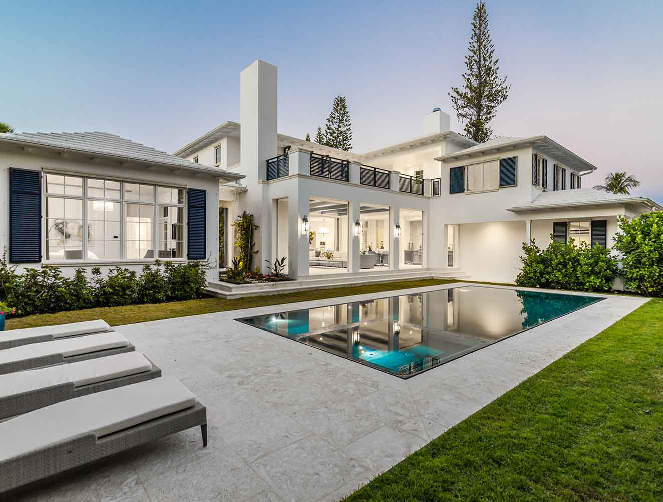Exterior Pool at 10th Ave S. Residence in Naples Florida, single family home designed by Kukk Architecture & Design Naples Architecture Firm