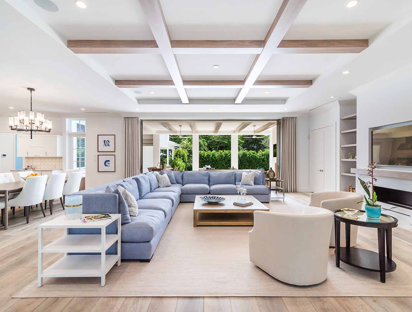 Family Room at 10th Ave S. Residence in Naples Florida, single family home designed by Kukk Architecture & Design Naples Architecture Firm