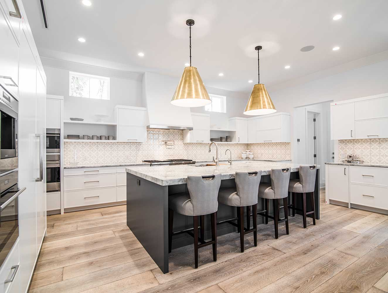 Kitchen at 10th Ave S. Residence in Naples Florida, single family home designed by Kukk Architecture & Design Naples Architecture Firm