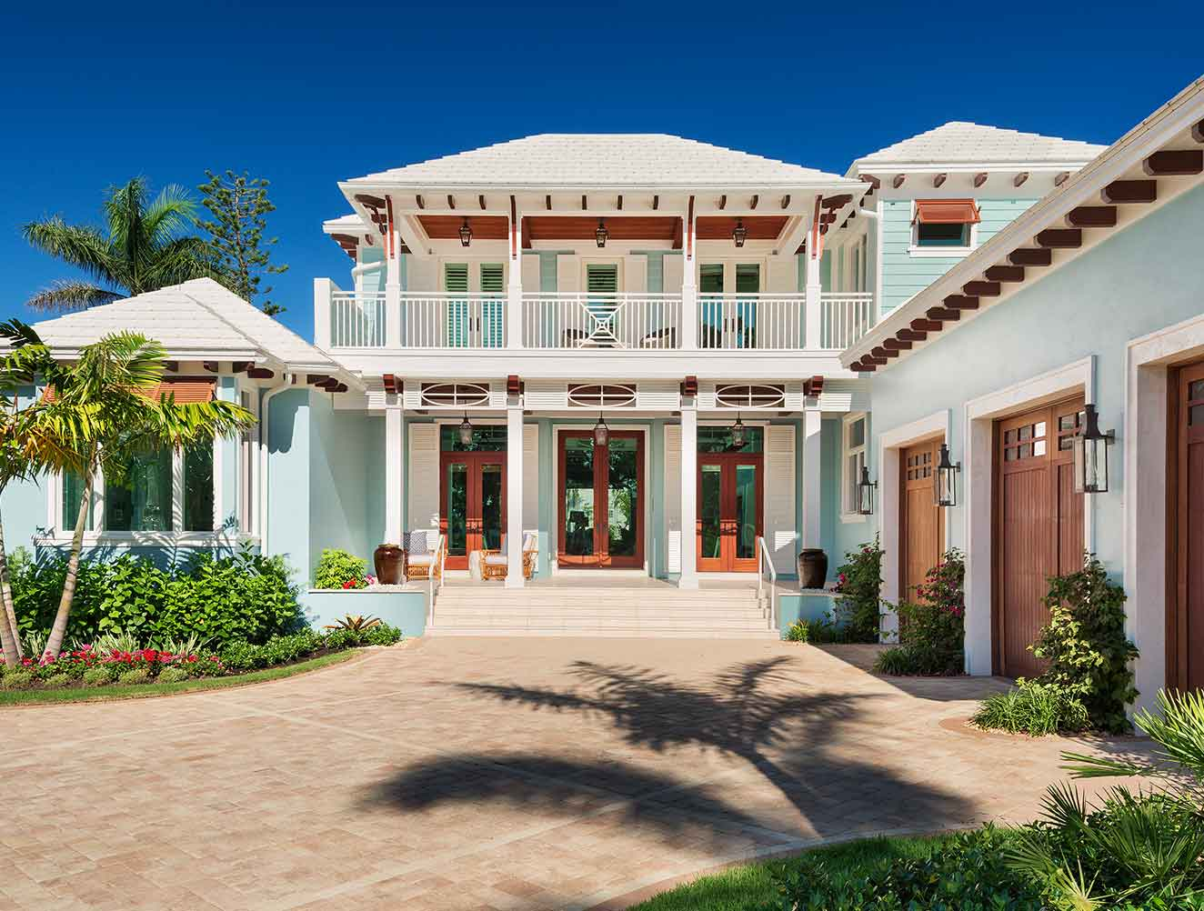 Residence Entry & Architectural Features at West Indies Residence in Naples Florida, single family home designed by Kukk Architecture & Design Naples Architecture Firm