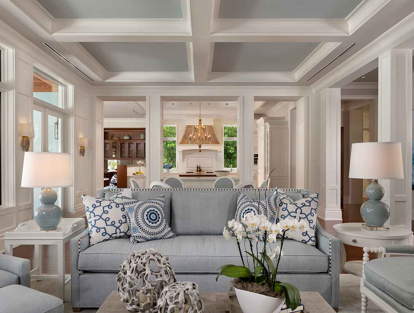 Formal Living Room at West Indies Residence in Naples Florida, single family home designed by Kukk Architecture & Design Naples Architecture Firm