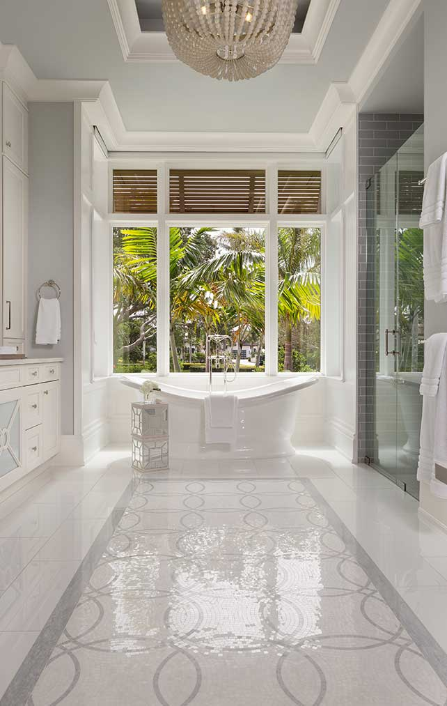 Master Bathroom at West Indies Residence in Naples Florida, single family home designed by Kukk Architecture & Design Naples Architecture Firm