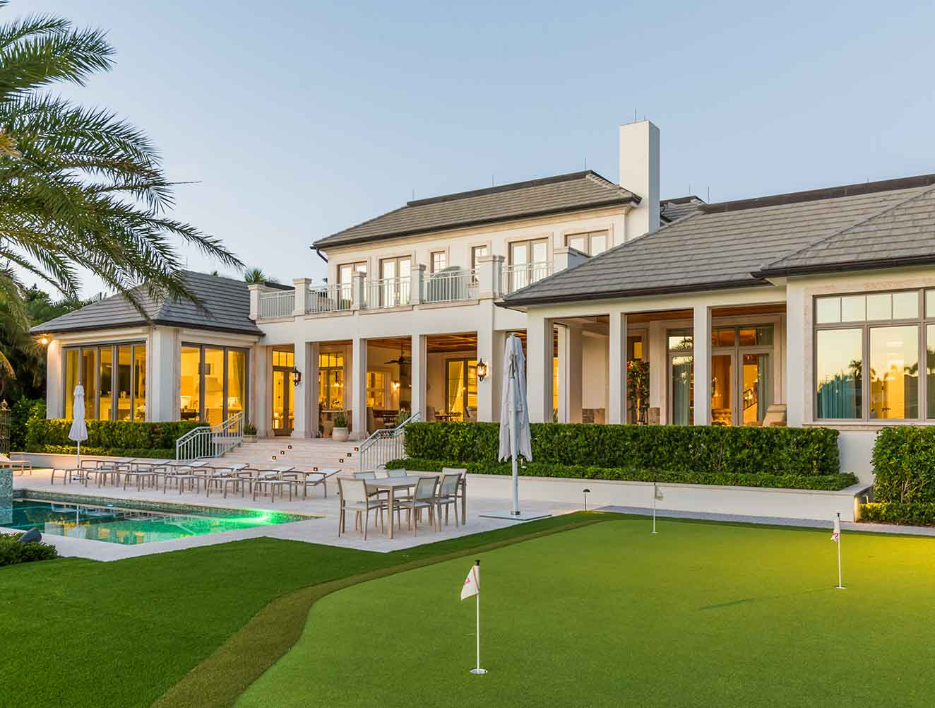 Putting Green at Cove Residence in Naples Florida, single family home designed by Kukk Architecture & Design Naples Architecture Firm