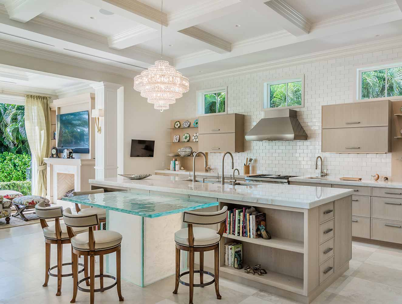Modern Kitchen at Cove Residence in Naples Florida, single family home designed by Kukk Architecture & Design Naples Architecture Firm
