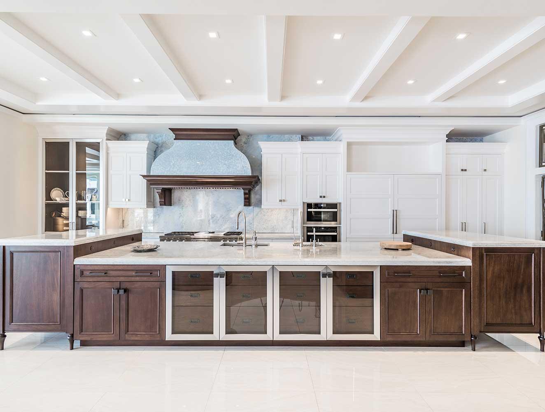 Custom large modern kitchen island. Kitchen Galleries Architectural Design Portfolio. Designed by Kukk Architecture & Design Naples.