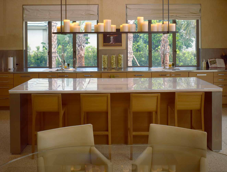Custom kitchen lighting feature. Kitchen Galleries Architectural Design Portfolio. Designed by Kukk Architecture & Design Naples.