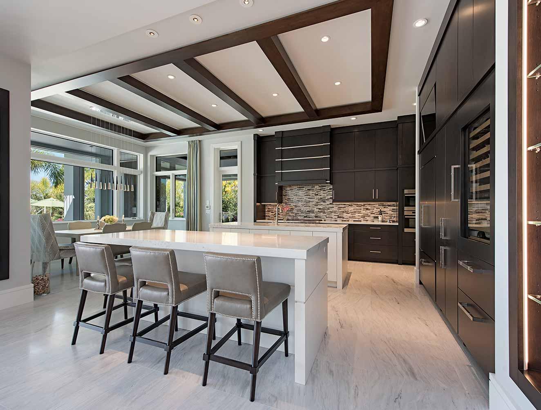 Modern Custom Kitchen Design. Kitchen Galleries Architectural Design Portfolio. Designed by Kukk Architecture & Design Naples.