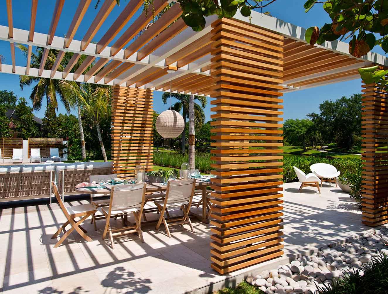 Portfolio of Leisure Spaces in Naples, Florida Luxury Homes. Leisure Collection Pergola. Designed by Kukk Architecture & Design Naples.