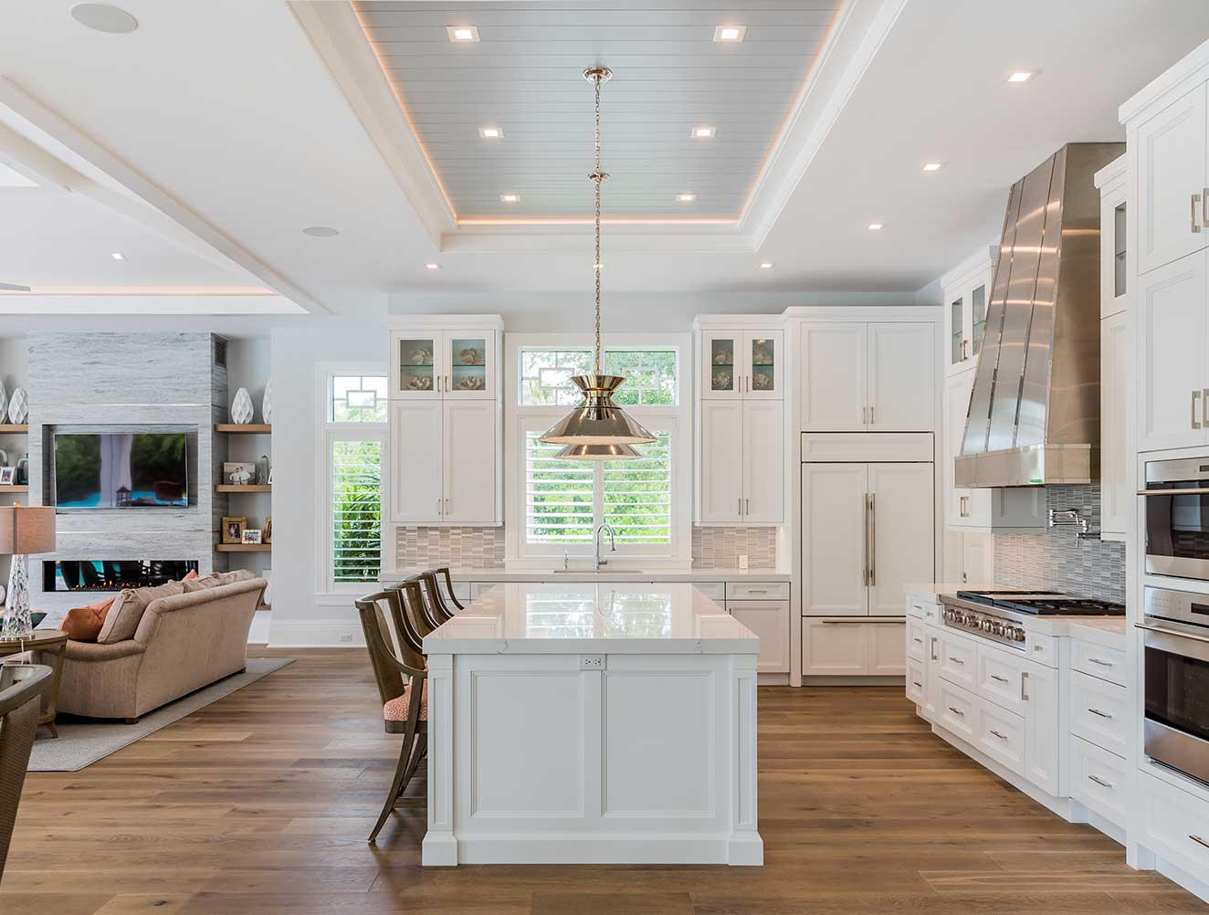 Luxury kitchen of Fort Charles Estate in Naples Florida, single family home designed by Kukk Architecture & Design Naples Architecture Firm
