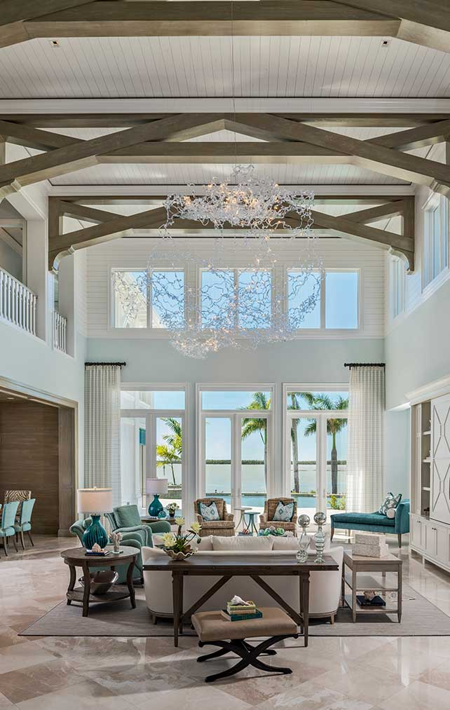 Formal Living Room at Caxambas Residence in Naples Florida, single family home designed by Kukk Architecture & Design Naples Architecture Firm
