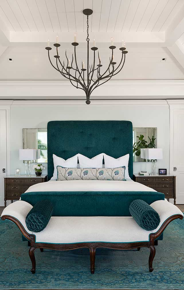 Master bedroom at Caxambas Residence in Naples Florida, single family home designed by Kukk Architecture & Design Naples Architecture Firm