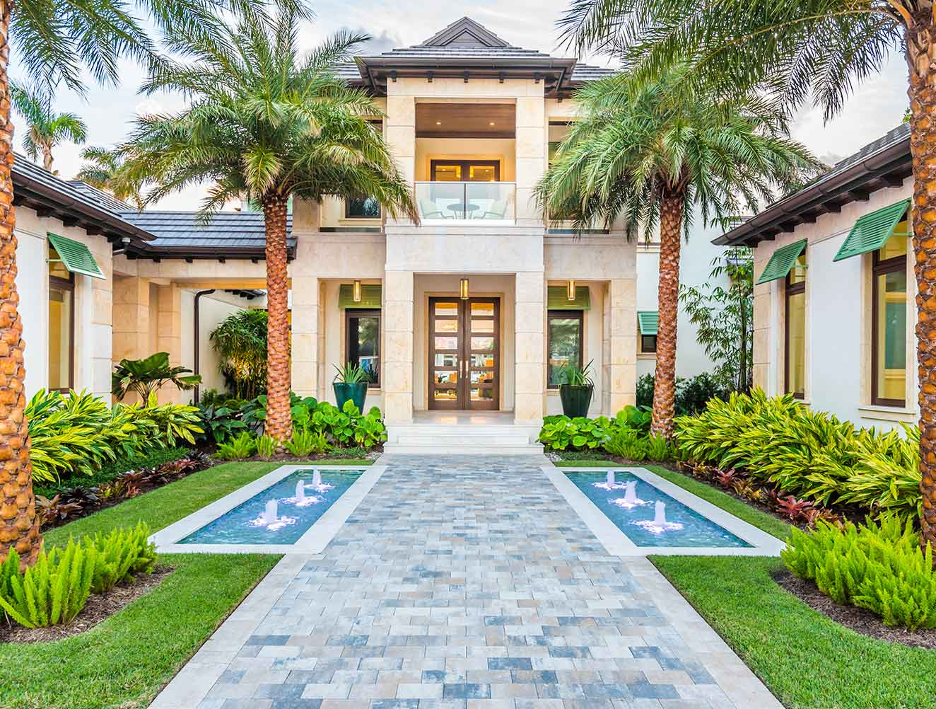 Entryway of Rum Row Estate in Naples Florida, single family home designed by Kukk Architecture & Design Naples Architecture Firm