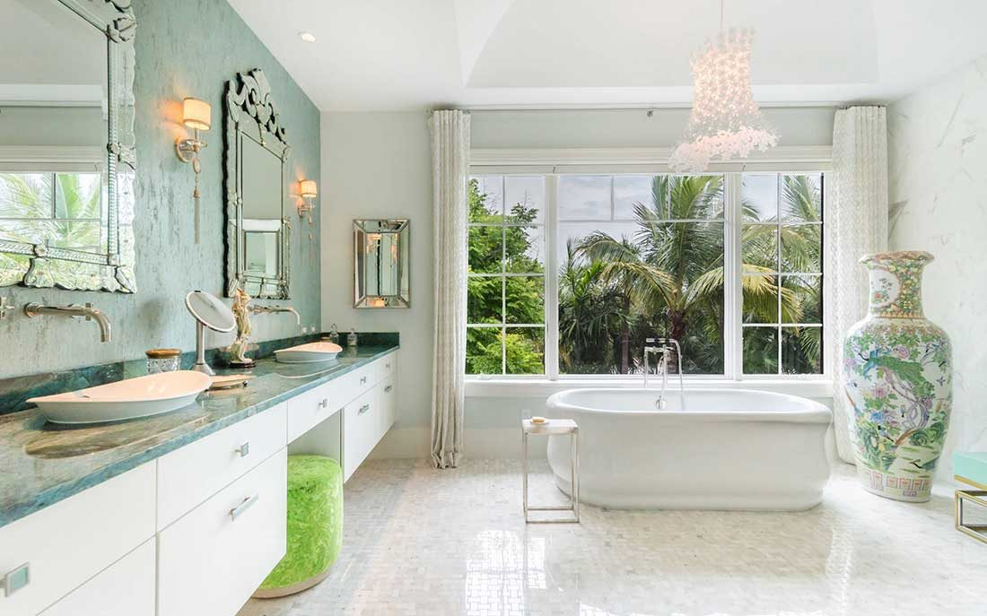 Bathroom designed by Kukk Architecture and Design, P.A. located on 4th Avenue North in Naples Florida | Blog: Kukk Architecture Featured on Houzz 'The Most Popular Bath Splurges This Year.'