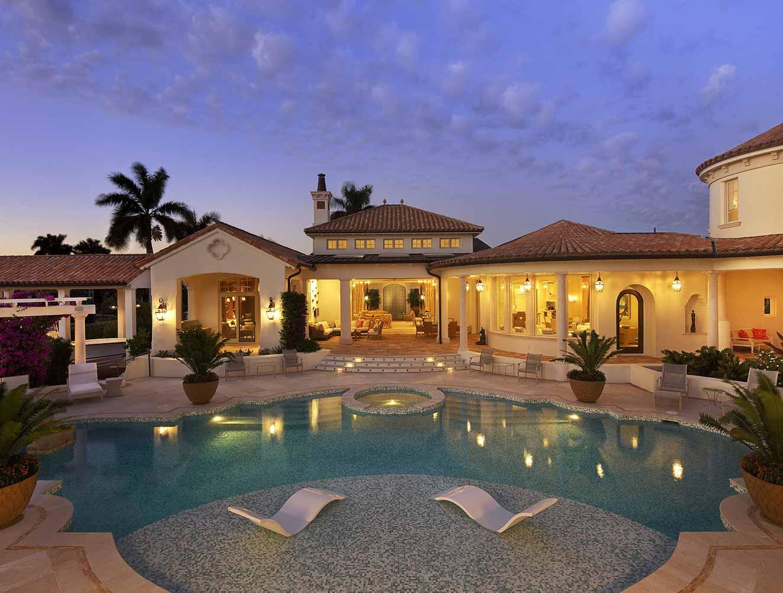 Portfolio of Pools in Naples, Florida Luxury Homes. Sun landing and Mediterranean Style. Designed by Kukk Architecture & Design Naples.