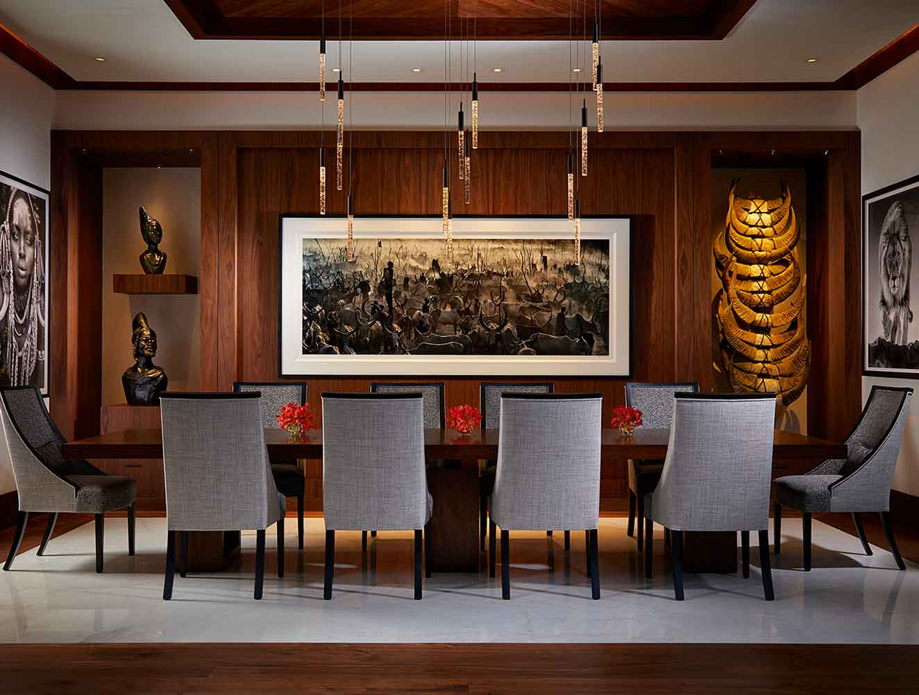 Dining Room of Tranquility Estate in Naples Florida, single family home designed by Kukk Architecture & Design Naples Architecture Firm