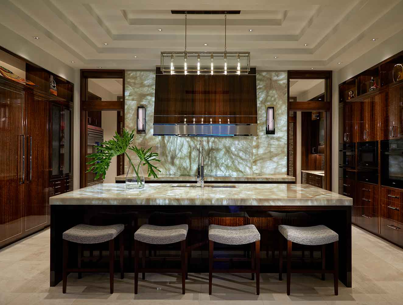 Kitchen of Tranquility Estate in Naples Florida, single family home designed by Kukk Architecture & Design Naples Architecture Firm