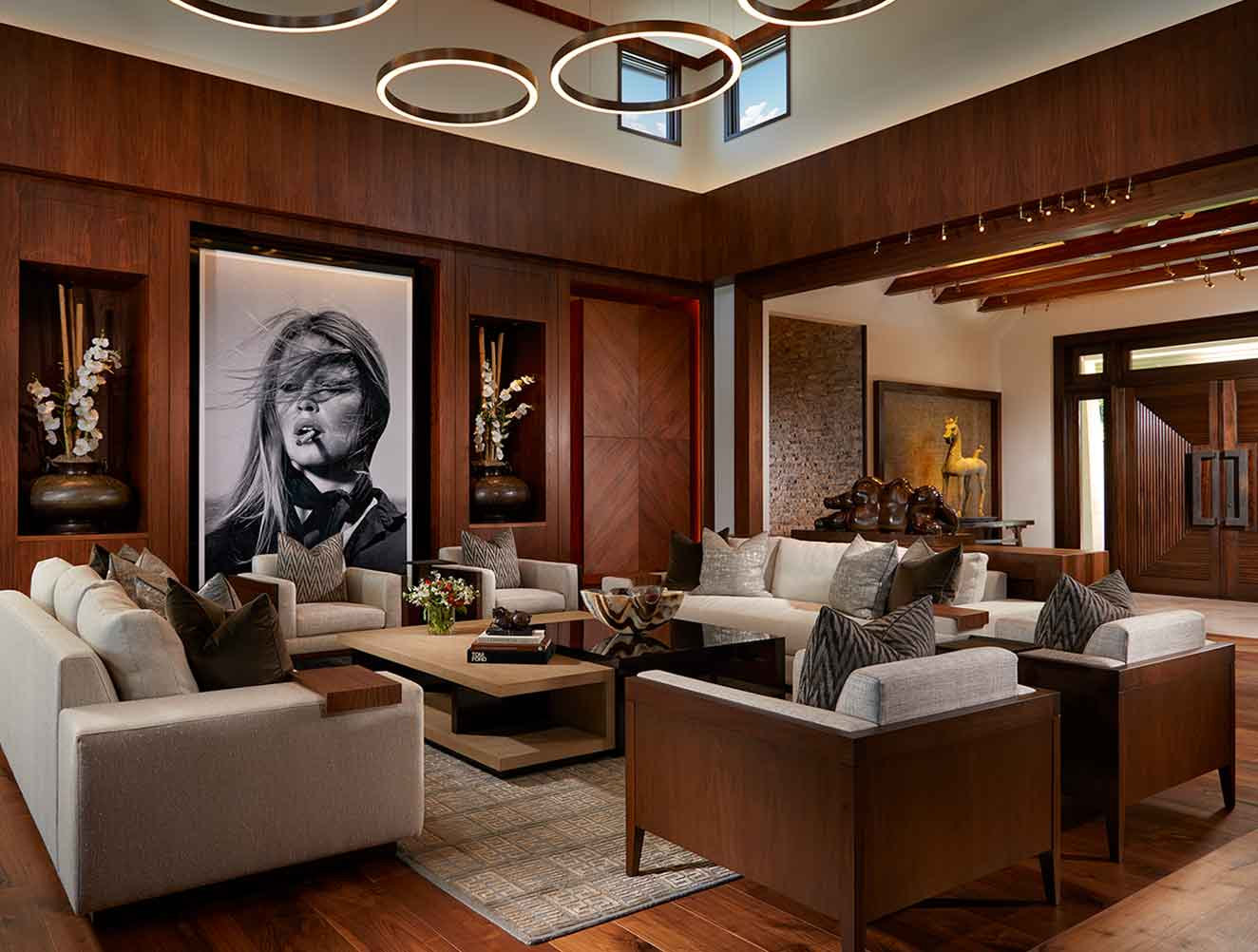 Living Room of Tranquility Estate in Naples Florida, single family home designed by Kukk Architecture & Design Naples Architecture Firm