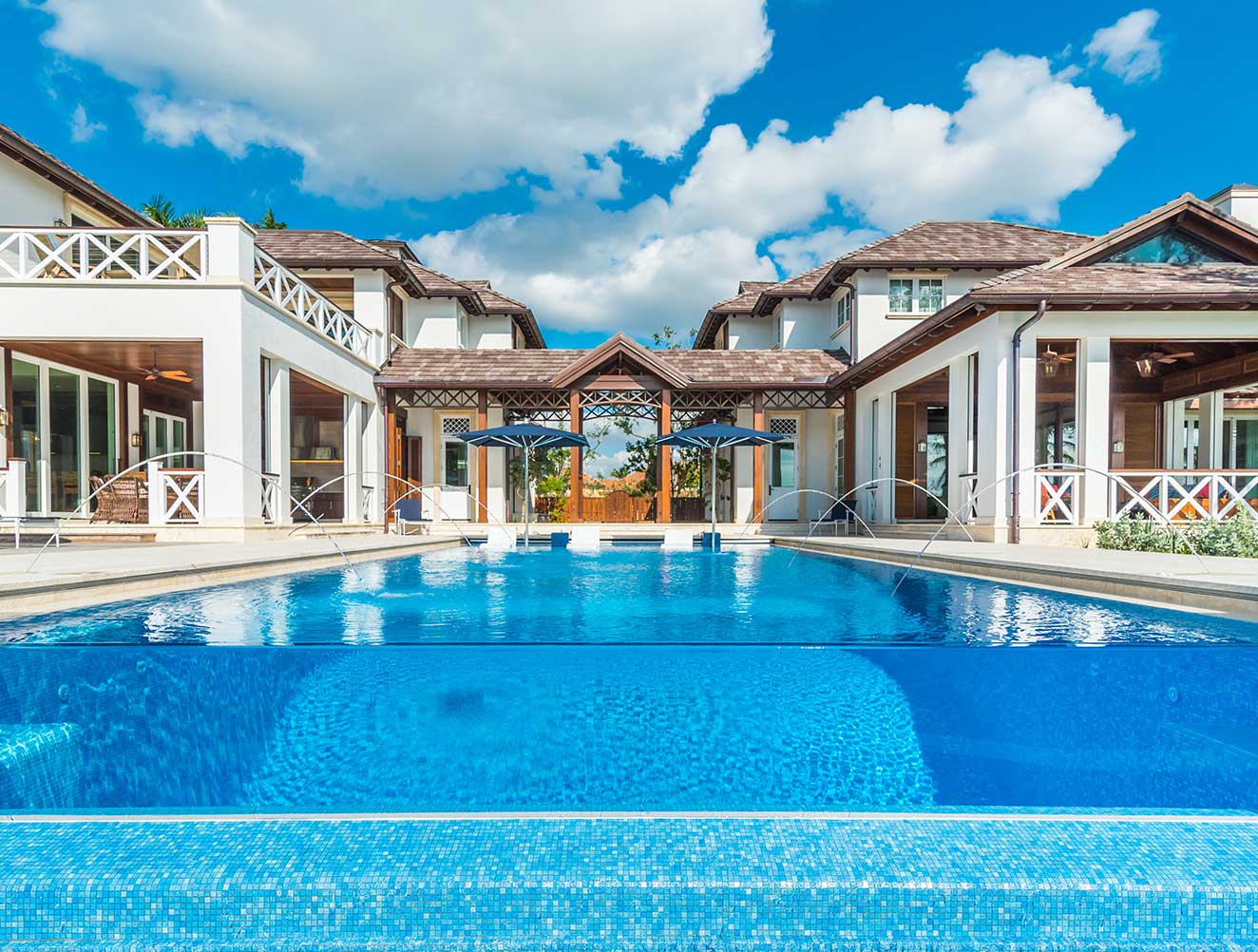 Pool and Architectural Details of Cutlass Estate in Naples Florida, single family home designed by Kukk Architecture & Design Naples Architecture Firm