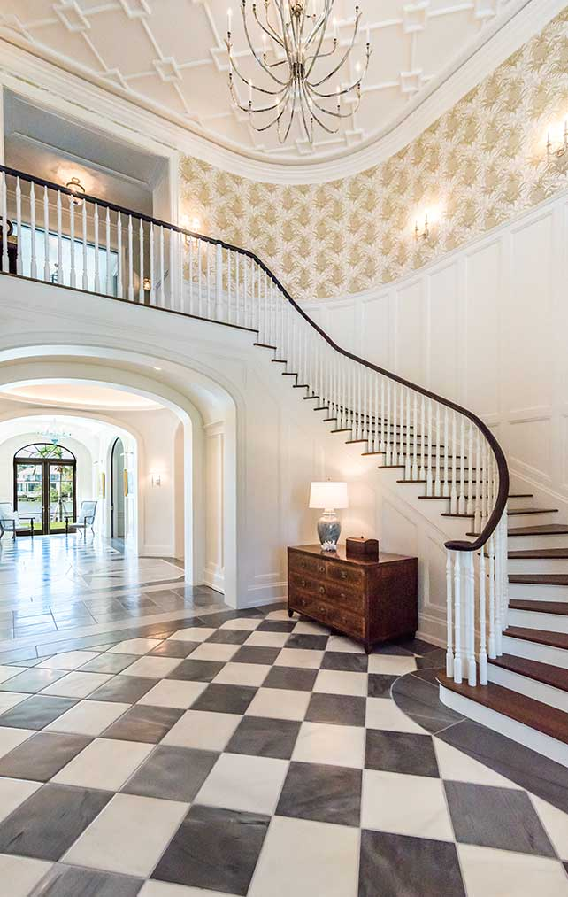 Staircase of Cutlass Estate in Naples Florida, single family home designed by Kukk Architecture & Design Naples Architecture Firm