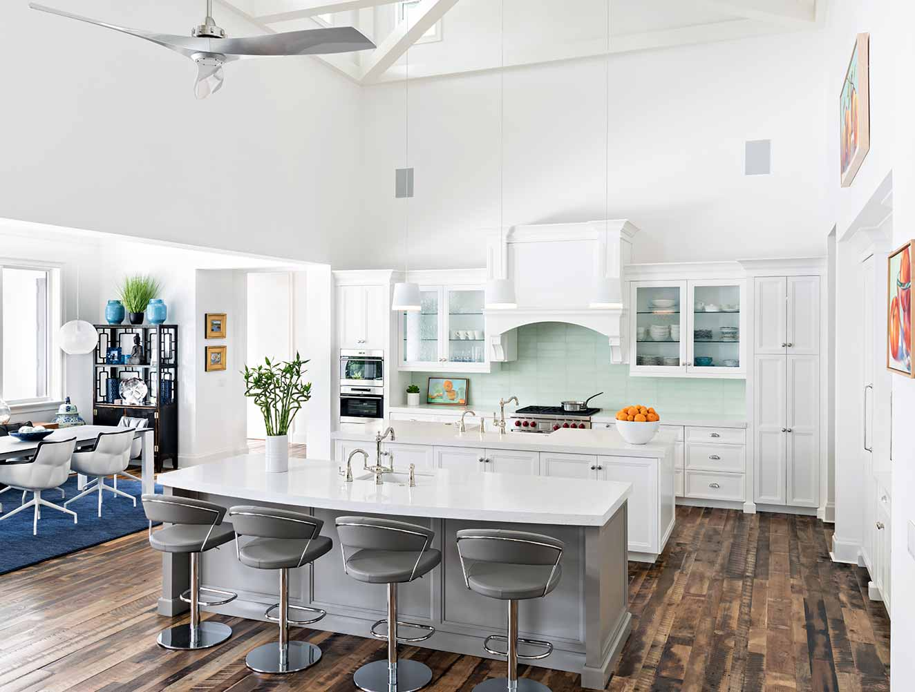 Kitchen at Yucca Residence in Naples Florida, single family home designed by Kukk Architecture & Design Naples Architecture Firm