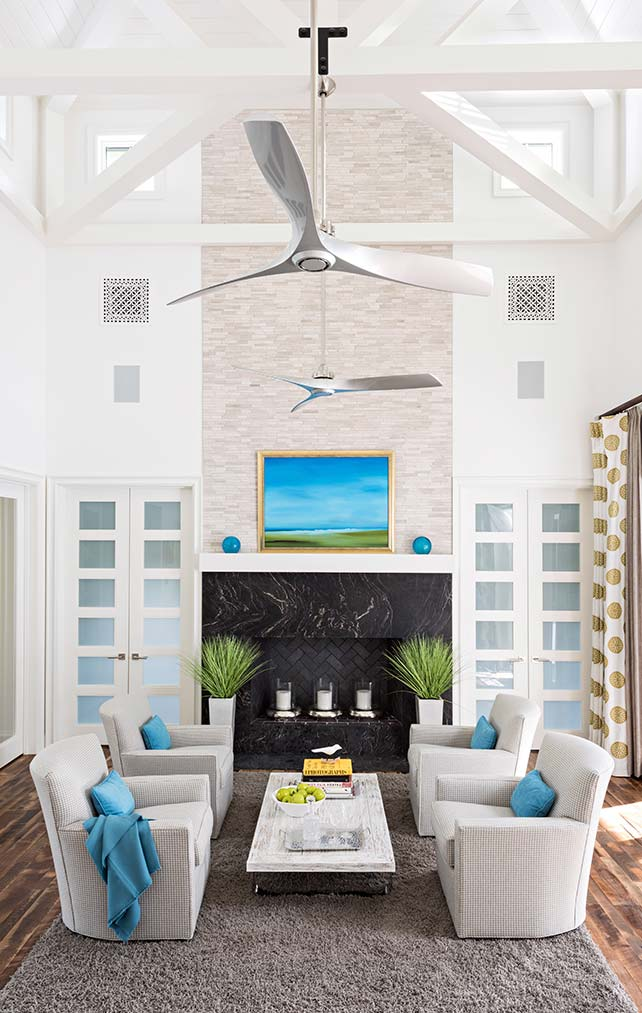 Living Room at Yucca Residence in Naples Florida, single family home designed by Kukk Architecture & Design Naples Architecture Firm