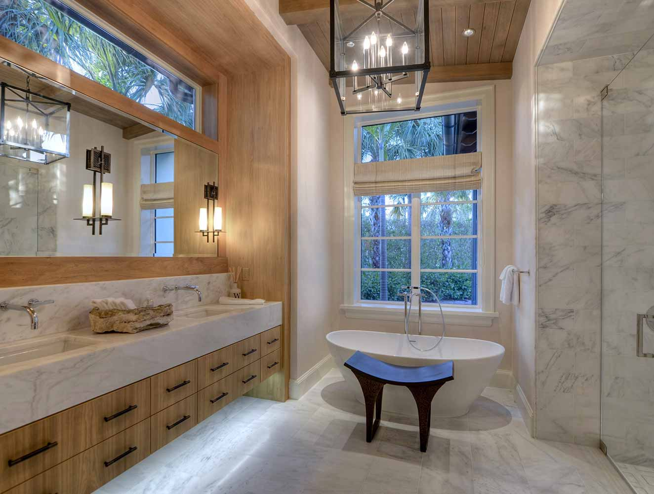 Master Bathroom at Little Harbour Residence in Naples Florida, single family home designed by Kukk Architecture & Design Naples Architecture Firm